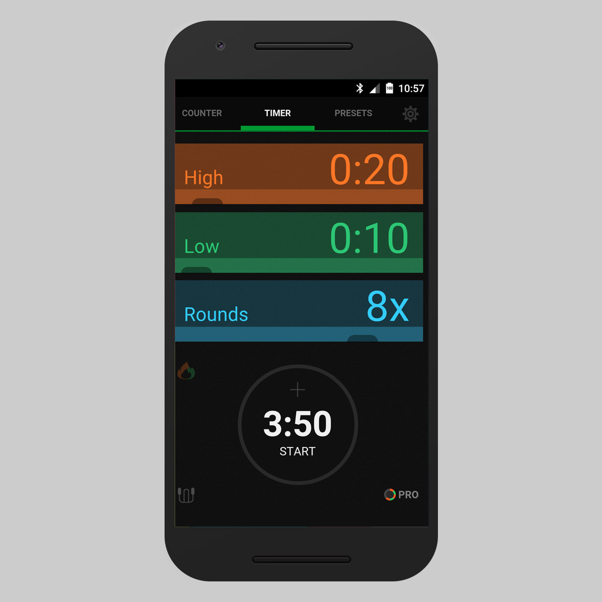 Icount Timer Can Be Used In Various Exercises And Includes A Mode Where You Use This App For Hiit Training Crossfit Cycling Running
