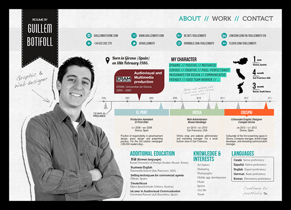 50 Awesome Resume Designs That Will Bag The Job - Hongkiat