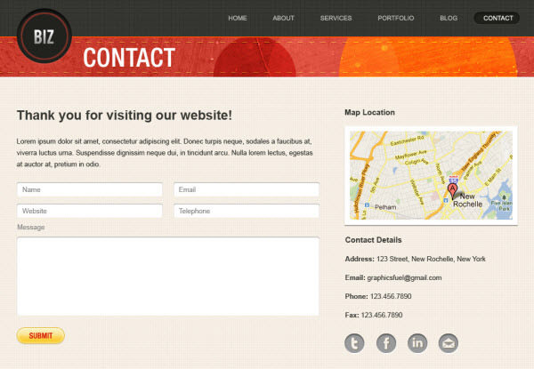 biz contact page