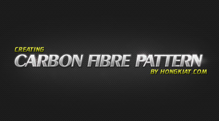 Create Carbon Fibre Pattern In Photoshop - Hongkiat