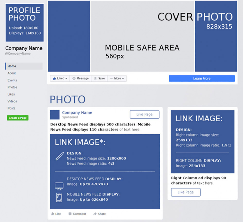 Facebook Cheat Sheet: All Sizes and Dimensions