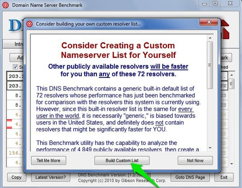 build custom list