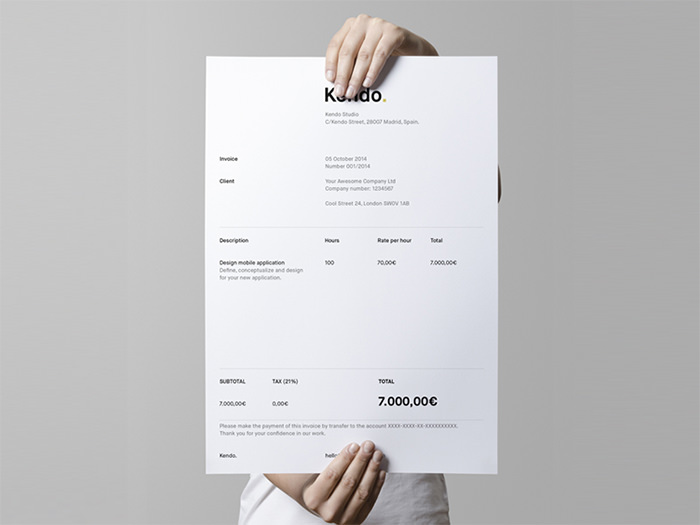 50 Creative Invoice Designs for Your Inspiration - Hongkiat
