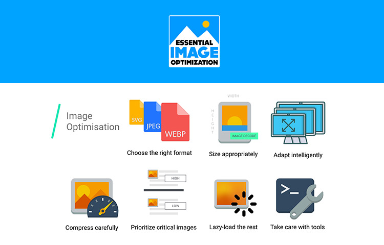 Images Guide website homepage and icons