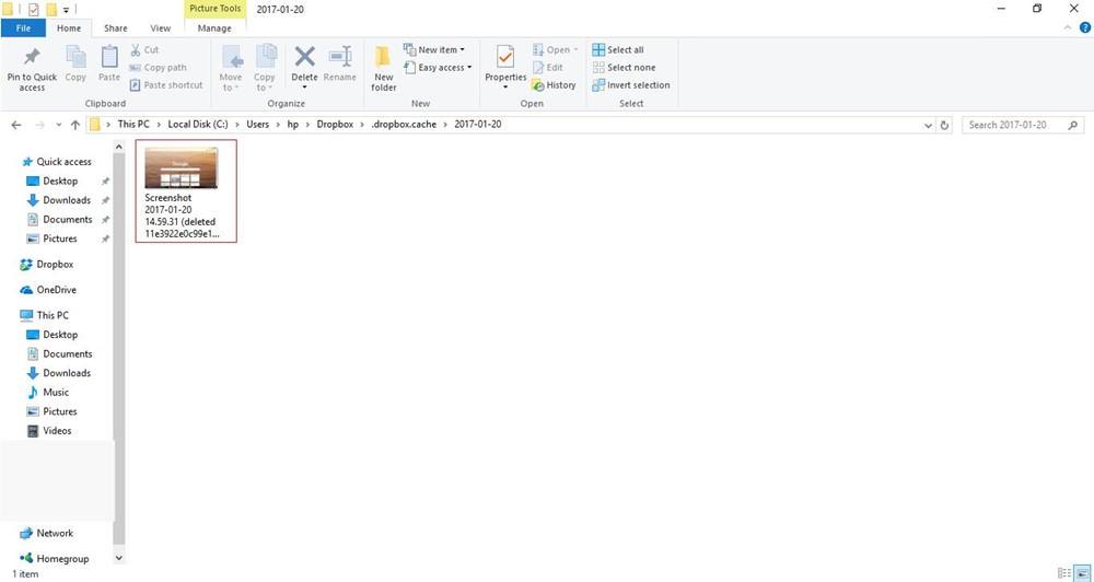 Cache folder of Dropbox