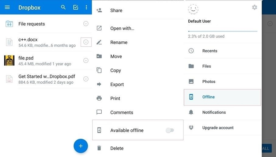 View files in Dropbox on mobile
