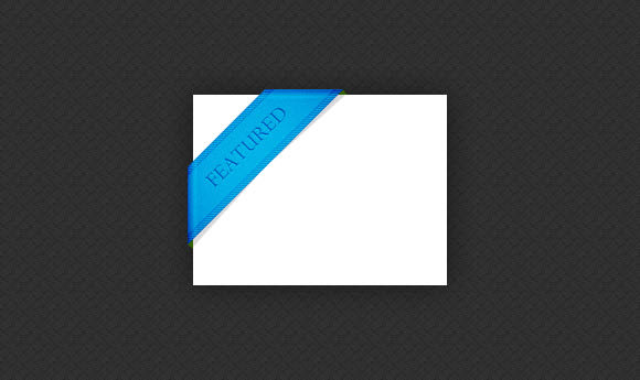 blue featured ribbon