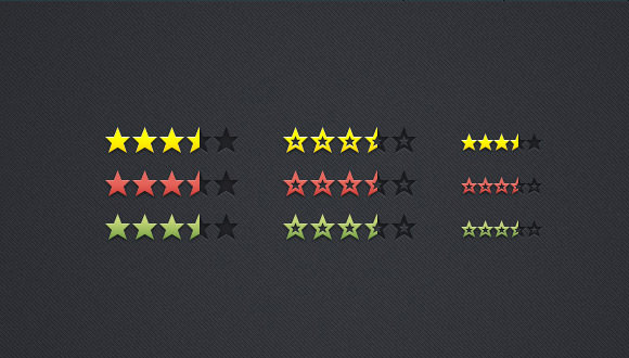 review and rating stars