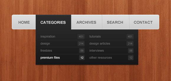 simple navigation menu