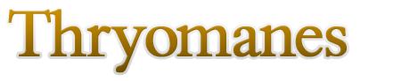 Free font: Thryomanes