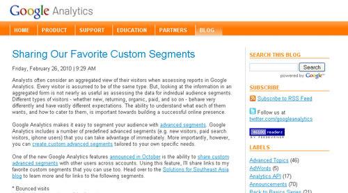 Google Analytic Blog