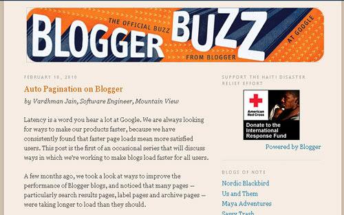 Google Blogger support blog