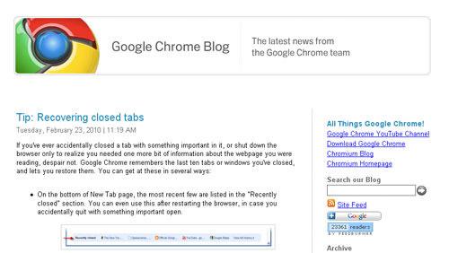 Google Chrome OS blog