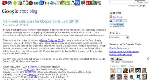 Google codes blog