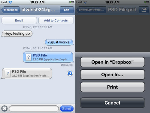 share file to any idevice