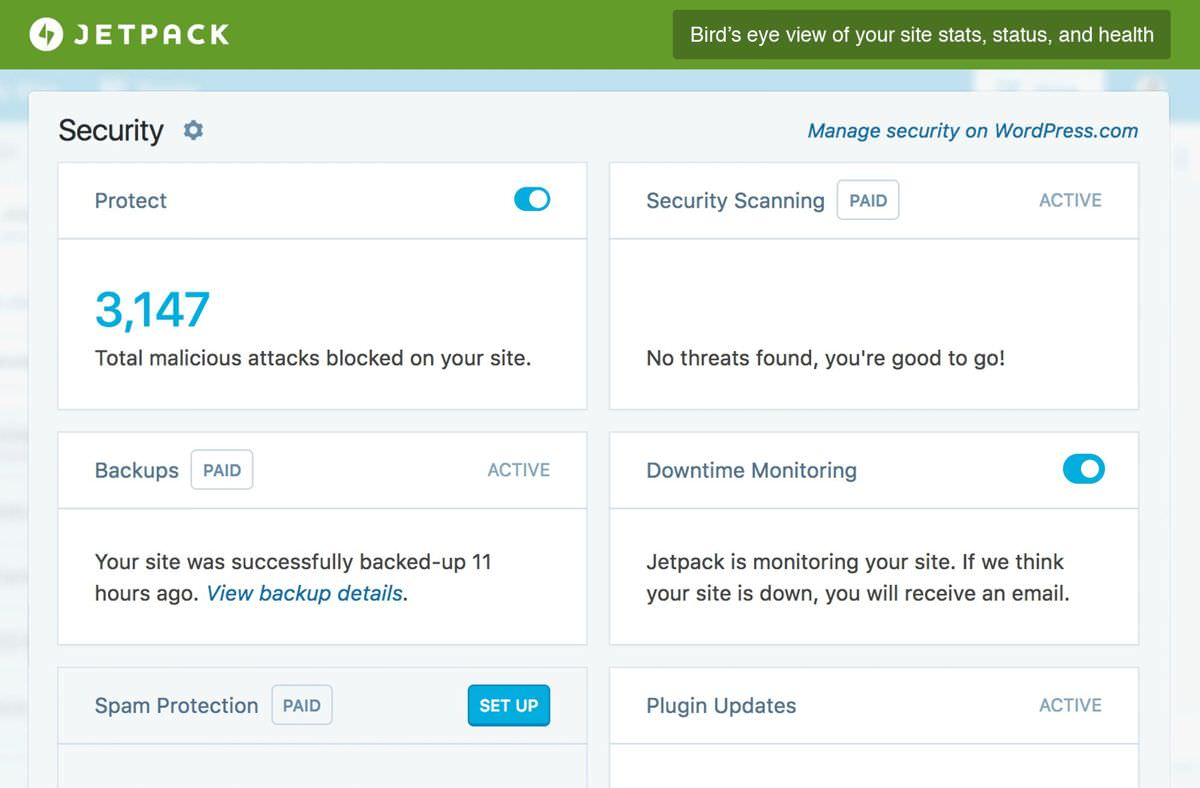 Jetpack's security features