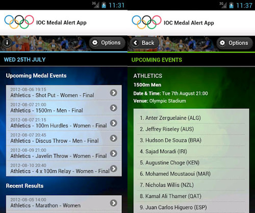 Olympic Medal Alerts
