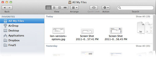 all my files