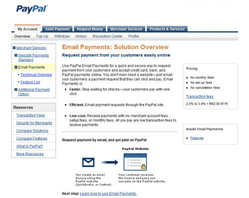 PayPal Email Payments