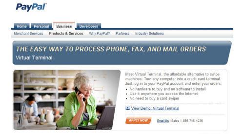 PayPal Virtual Terminal