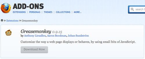 Greasemonkey Firefox Add-on
