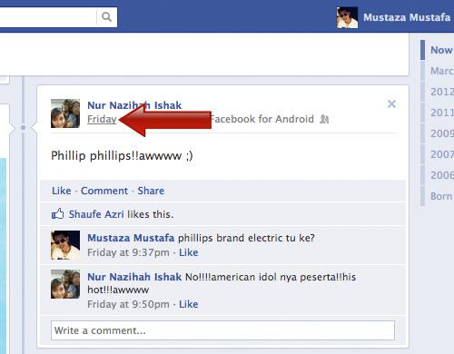 Facebook Post Timestamp