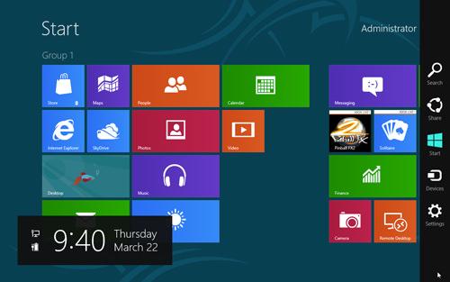 Windows 8 Charm