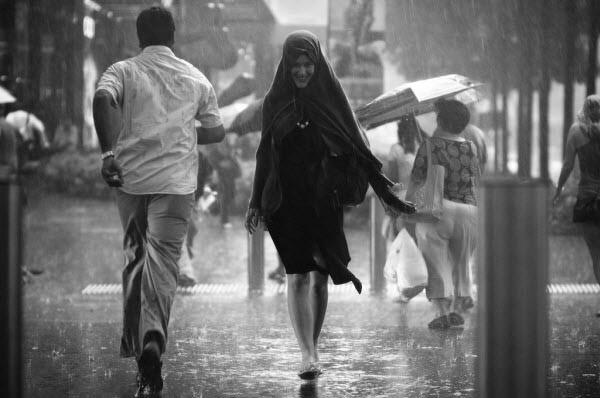 a smile in the rain
