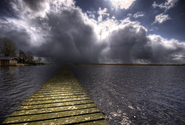 its still sunny at the lake