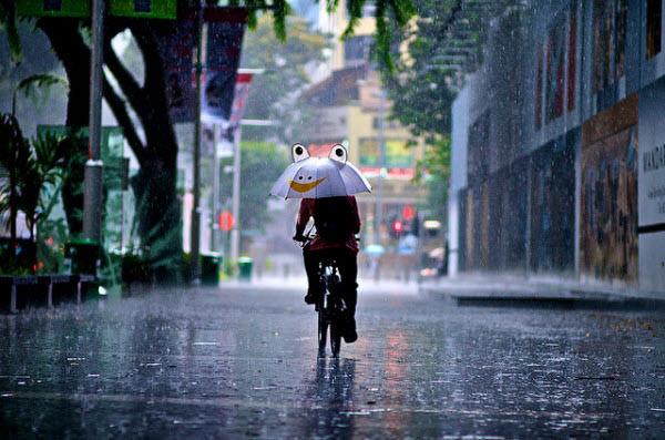rain and smiley