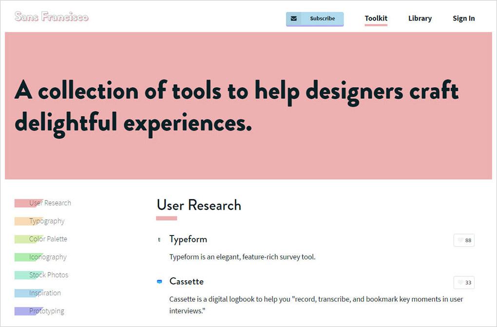 Sans Francisco homepage