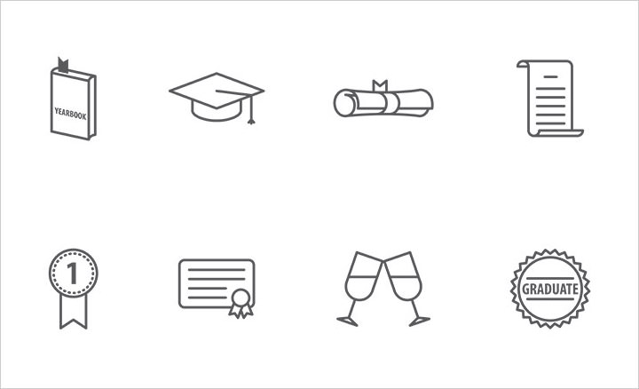 graduation-icons