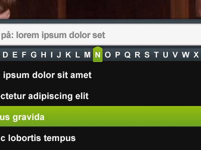 scroll search module
