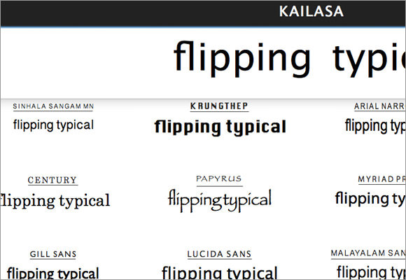 flipping typical font comparison tool