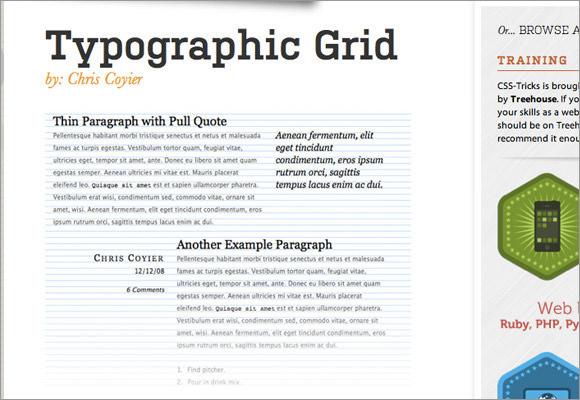 Typographic Grid tutorial design