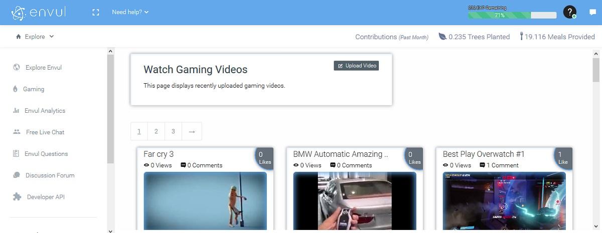 Earn money from videos on Envul