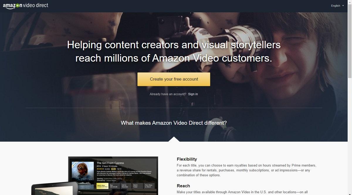 Earn using Amazon Video Direct