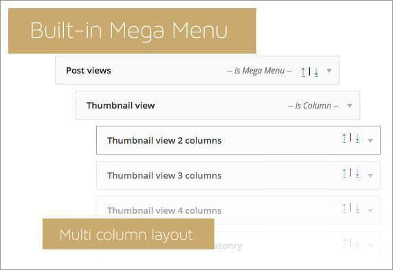 Mega menu in Slimvideo