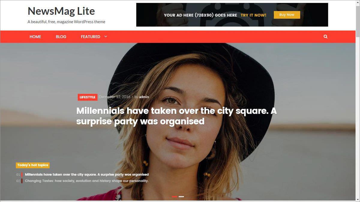 NewsMag Lite's demo