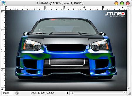 photoshop a car