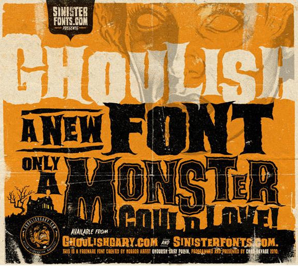 Ghoulish halloween fonts