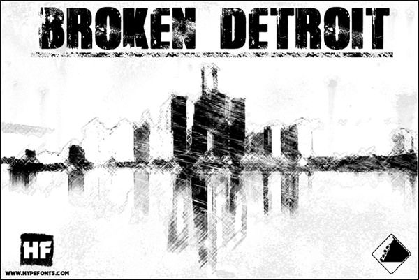 Broken Detroit halloween fonts