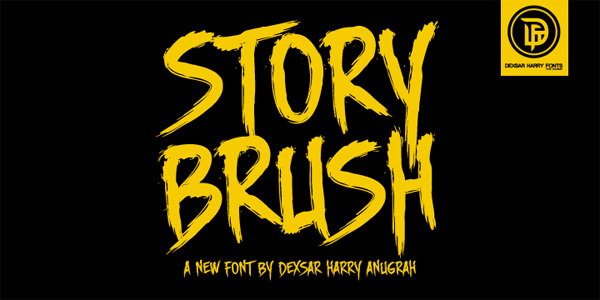 DHF Story Brush halloween fonts