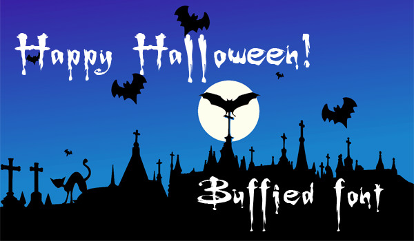 Buffied halloween fonts