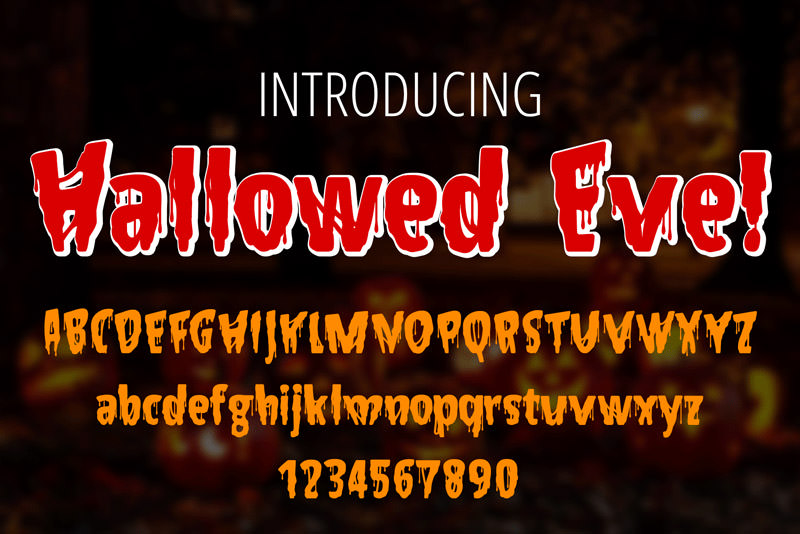 Hallowed Eve halloween fonts
