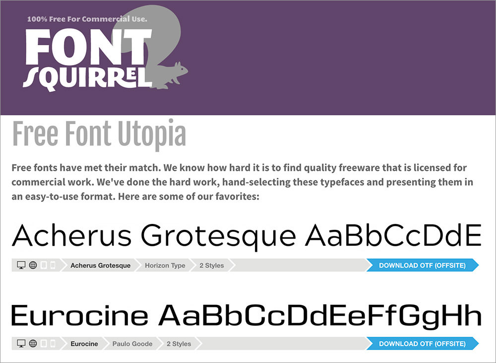Fonts-Squirrel