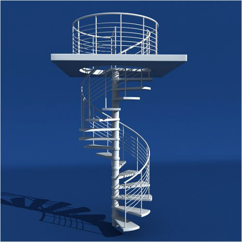 model_spiral_staircase