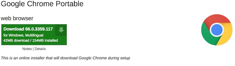chrome-portable