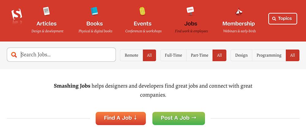 SmashingMagazine Job Board