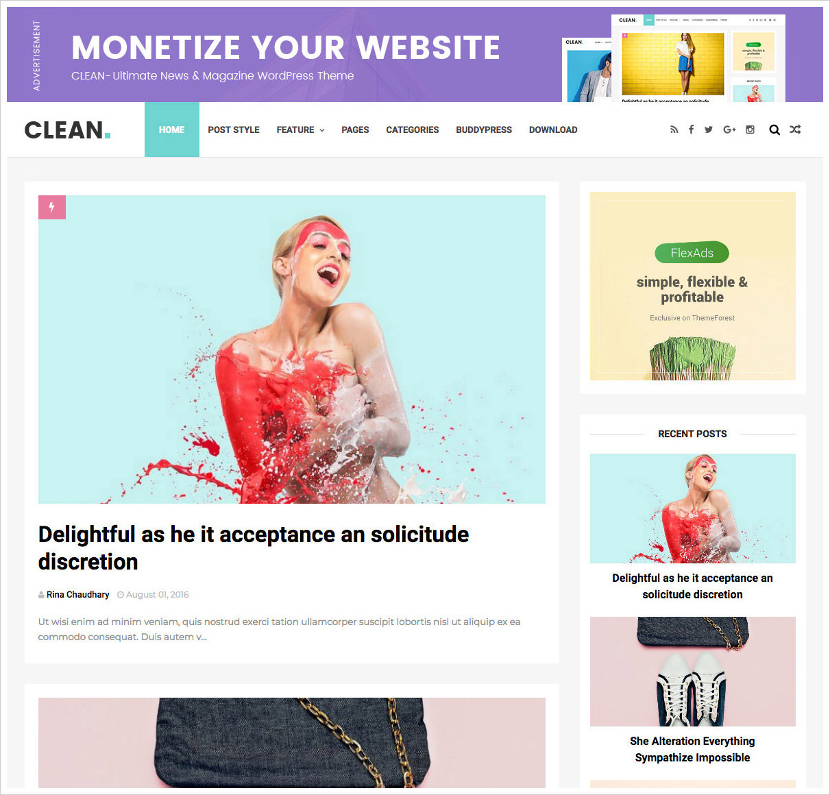 Clean-Blogger-Template-2018